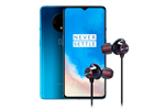 5011100748-BUNDLE - OnePlus 7T 128GB/8GB - Glacier Blue Incl. Bullets Wireless 2 Headset