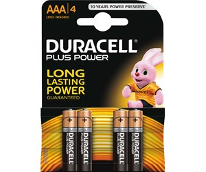 038141 - DURACELL Plus Power AAA - 4 Pack