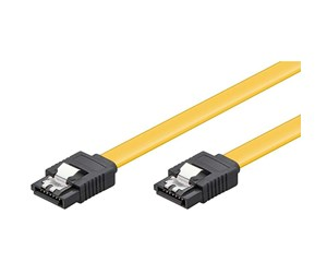 4040849940132 - Pro SATA Cable - Yellow - 0.1m