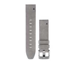 010-12491-16 - Garmin QuickFit™ 20 Watch Band Gray Suede Leather