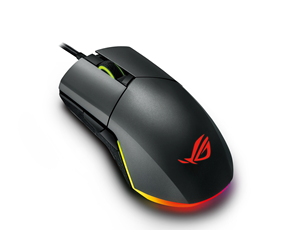90MP00L0-B0UA00 - ASUS ROG Pugio Gaming Mouse - Gaming Mus - Optisk - 7 knapper - Sort med RGB lys