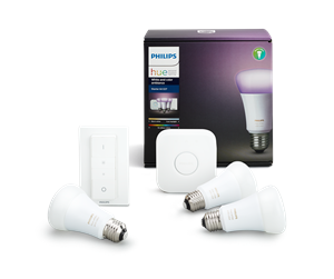 929001257361 - Philips Hue Color 3xE27 Pærer Starter Kit - Richer Colors + Switch