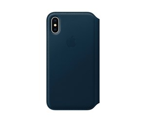 MQRW2ZM/A - Apple iPhone X Leather Folio - Cosmos Blue