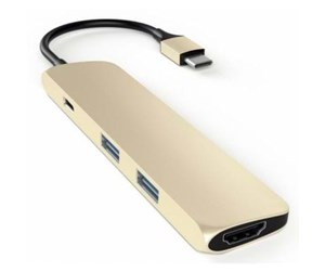 ST-CMAG - Satechi Slim USB-C MultiPort Adapter with 4K HDMI - Gold