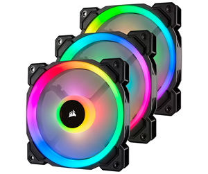 CO-9050072-WW - Corsair LL120 RGB Dual Light 3-pack + Node PRO - Kabinet Køler - 120 mm - 24 dBA