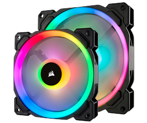 CO-9050074-WW - Corsair LL140 RGB Dual Light 2-pack + Node PRO - Kabinet Køler - 140 mm - 25 dBA