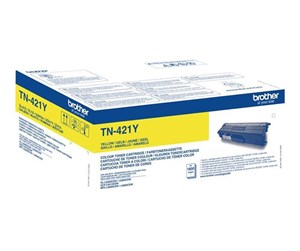 TN421Y - Brother TN421Y / TN 421Y Yellow Toner - Lasertoner Gul