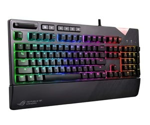 90MP00M0-B0NA00 - ASUS ROG Strix Flare RGB Gaming Keyboard Cherry MX Red - ND - Gaming Tastatur - Nordisk - Sort