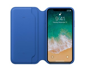 MRGE2ZM/A - Apple iPhone X Leather Folio - Electric Blue