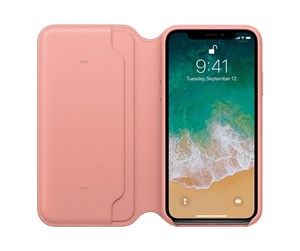 MRGF2ZM/A - Apple iPhone X Leather Folio - Soft Pink