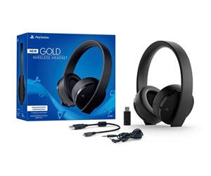 9455165 - Sony PS4 New Official Gold Wireless Headset 7.1 Black - Headset - Sony PlayStation 4