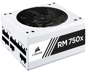 CP-9020187-EU - Corsair RM750x White v2 (2018) Strømforsyning - 750 Watt - 135 mm - 80 Plus Gold certified
