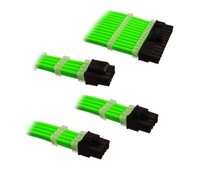 DSC-PCE30CMGRN - DUTZO Sleeved Power Extension Cable Kit - Green