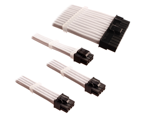 DSC-PCE30CMWHT - DUTZO Sleeved Power Extension Cable Kit - White