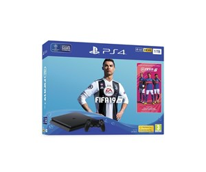 711719744818 - Sony PlayStation 4 Slim Black - 1TB (Fifa 19 Bundle)