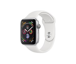 MU6A2KS/A - Apple Watch Series 4 (GPS) 44mm - Silver Alu with White Sport Band