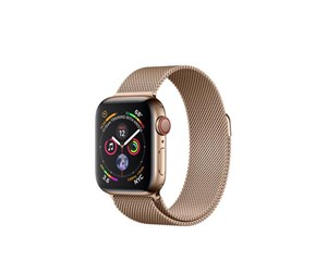 MTVQ2KS/A - Apple Watch Series 4 (GPS + Cellular) 40mm - Gold Stainless Steel with Gold Milaneese Loop