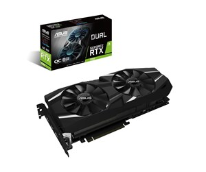 90YV0CL0-M0NM00 - ASUS GeForce RTX 2080 DUAL OC EVO - 8GB GDDR6 RAM - Grafikkort