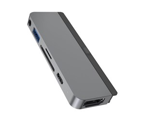 HD319-GRAY - Sanho HyperDrive 6-in-1 USB-C Hub Space Grey