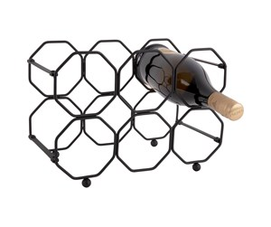 PT3474BK - Columbine Honeycomb Wine Rack