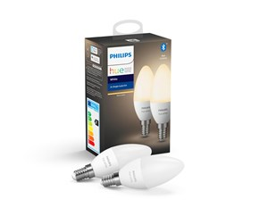 929002039902 - Philips Hue White E14 Pære - BT - 2-pak