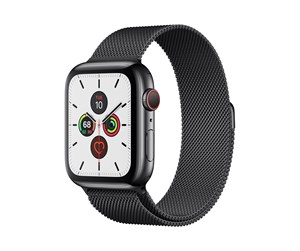 MWWL2DH/A - Apple Watch Series 5 (GPS + Cellular) 44mm Space Black Stainless Steel Case with Space Black Milanese Loop