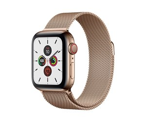 MWX72DH/A - Apple Watch Series 5 (GPS + Cellular) 40mm Gold Stainless Steel Case with Gold Milanese Loop