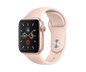 MWV72DH/A - Apple Watch Series 5 (GPS) 40mm Gold Aluminum Case with Pink Sand Sport Band