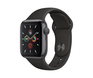 MWV82DH/A - Apple Watch Series 5 (GPS) 40mm Space Gray Aluminum Case with Black Sport Band