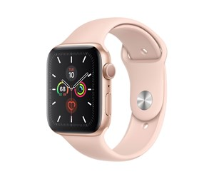MWVE2DH/A - Apple Watch Series 5 (GPS) 44mm Gold Aluminum Case with Pink Sand Sport Band