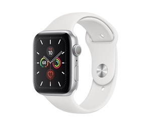 MWWC2DH/A - Apple Watch Series 5 (GPS + Cellular) 44mm Silver Aluminum Case with White Sport Band