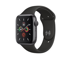 MWWE2DH/A - Apple Watch Series 5 (GPS + Cellular) 44mm Space Grey Aluminium Case with Black Sport Band