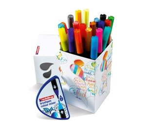 4-CH20+1 - Edding COLOUR HAPPY small box 20 brush pens in assorted colours and colour mixer tool