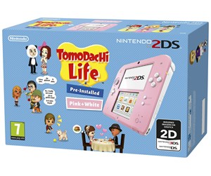 0045496502478 - Nintendo 2DS - Pink & White (Tomodachi Life Bundle)