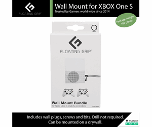5713474100101 - Floating Grip Xbox One S Wall Mount Bundle - White - Tilbehør til spillekonsol - Microsoft Xbox One S
