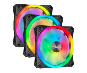 CO-9050098-WW - Corsair iCUE QL120 RGB - Black - 3-pack - Kabinet Køler - 120 mm - 26 dBA