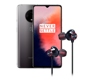 5011100749-BUNDLE - OnePlus 7T 128GB/8GB - Frosted Silver Incl. Bullets Wireless 2 Headset
