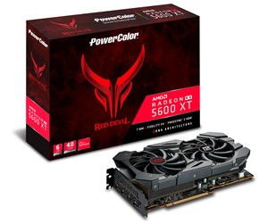 AXRX 5600XT 6GBD6-3DHE/OC - PowerColor Radeon RX 5600 XT Red Devil - 6GB GDDR6 RAM - Grafikkort