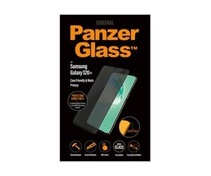 PANZERP7220 - PanzerGlass Samsung Galaxy S20 Plus (Case Friendly) - Black - Privacy