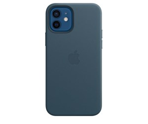 MHKE3ZM/A - Apple iPhone 12 | 12 Pro Leather Case with MagSafe - Baltic Blue