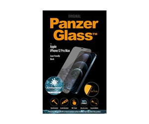 PANZER2712 - PanzerGlass Apple iPhone 12 Pro Max (AntiBacterial - Case Friendly) - Black
