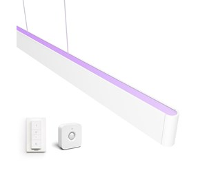 915005872101KIT - Philips Hue Ensis Pendel Lampe - BT - Hvid + Dimmer Switch Trådløs Lysdæmper + Motion Sensor