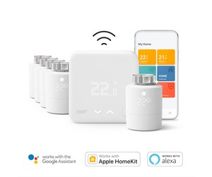 TAD-5PACK+WTS - Tado Smart 5-Pack Radiator Thermostat Starter Kit V3+ incl Wireless Temperature Sensor