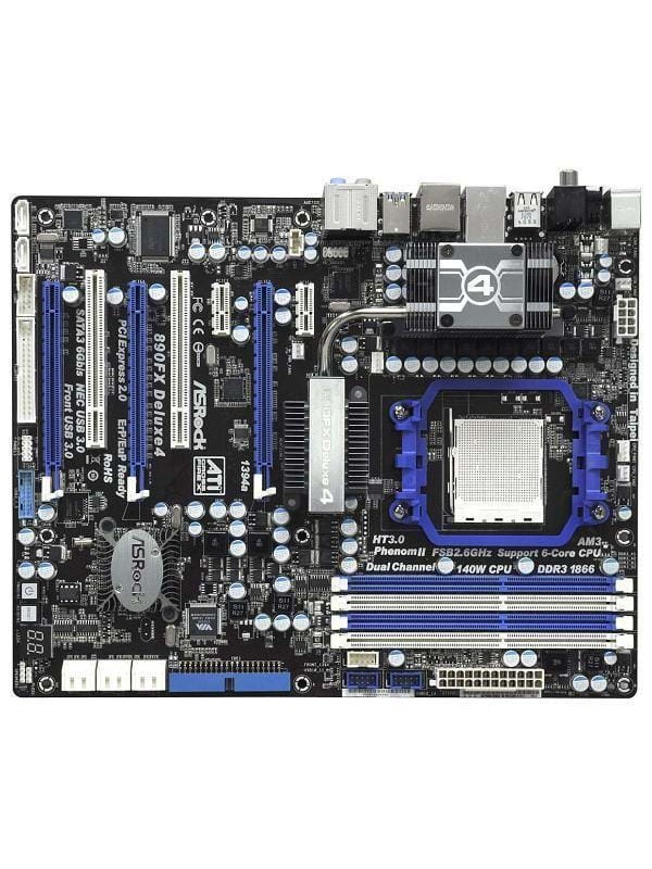 Image of   ASRock 890FX Deluxe4 Bundkort - AMD 890FX - AMD AM3 socket - DDR3 RAM - ATX