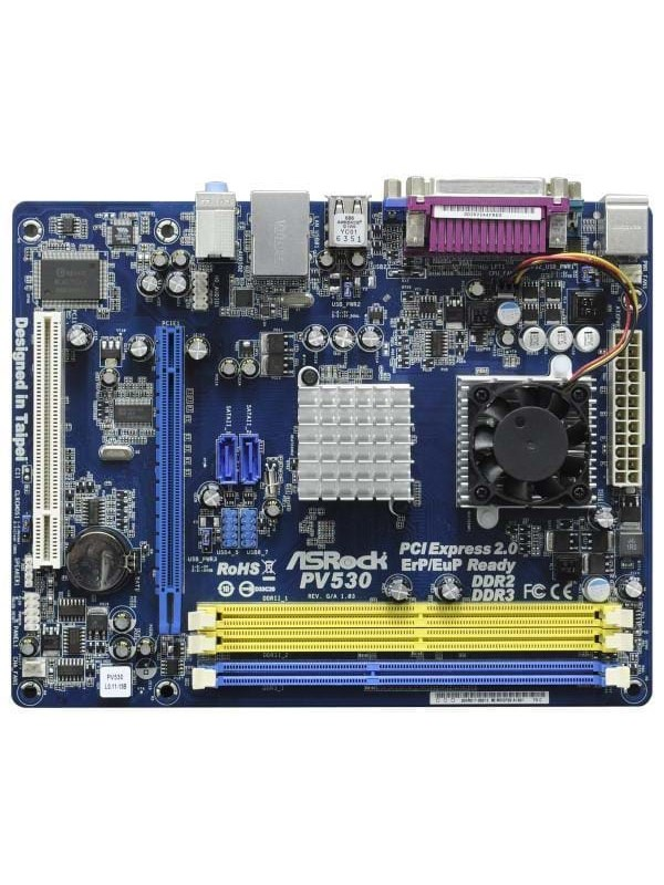 Image of   ASRock PV530 Bundkort - VIA VX900 - socket - DDR3 RAM - Micro-ATX