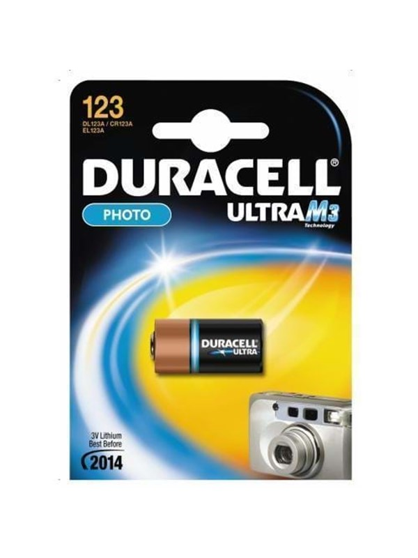 Image of   DURACELL ULTRA 123 FOTO 1PK