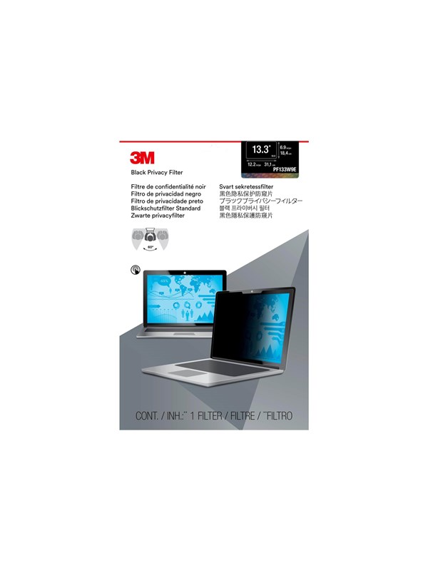 "Image of   3M PF133W9E Privacy Filter for 13.3"" Edge-to-Edge Widescreen Laptop"