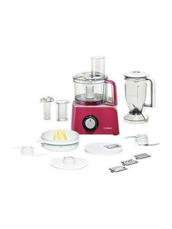 Image of   Bosch Foodprocessor MCM42024 - Red diamond/silver