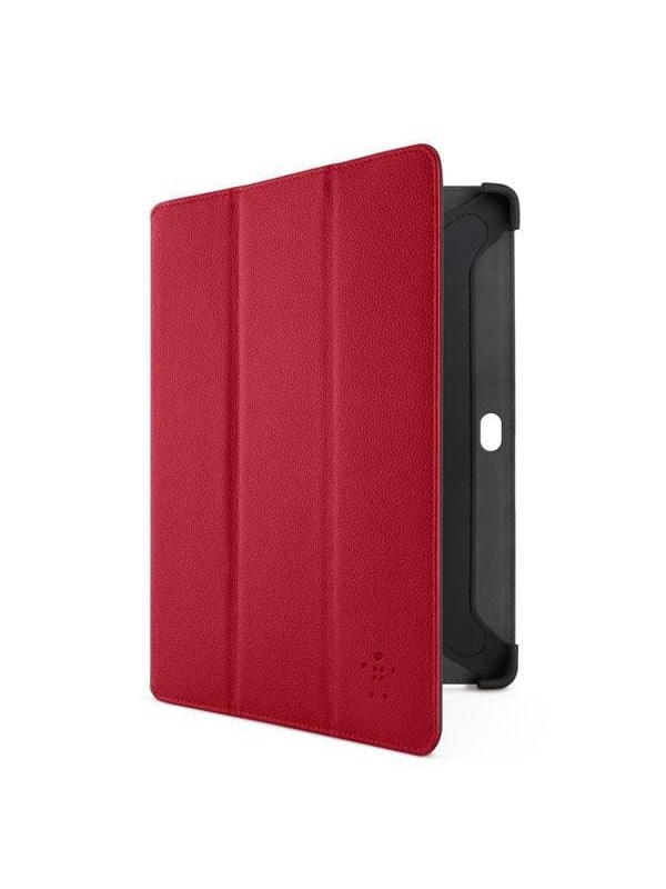 Image of   Belkin Tri-Fold Folio with Stand - Red