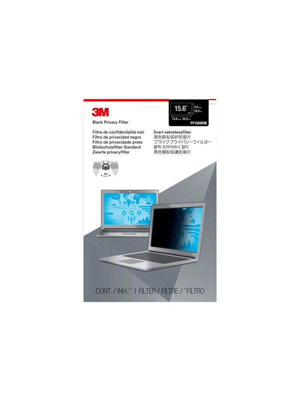 Image of   3M Privacy Filter 15.6 Widescreen Laptop (PF156W9B)